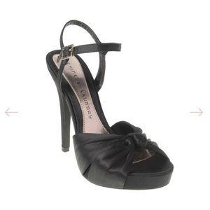 Satin Platform High Heels